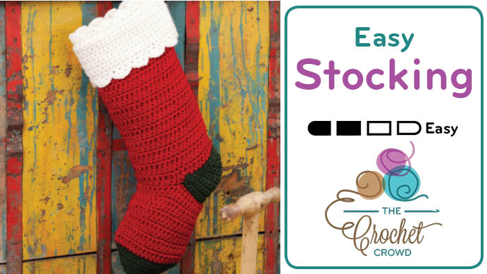 Quick Crochet Christmas Stocking Tutorial The Crochet Crowd Extraordinary Free Crochet Christmas Stocking Patterns