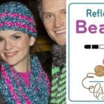 Crochet Reflective Beanie + Tutorial