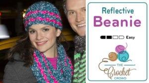 Crochet Reflective Beanie