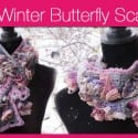 Winter Butterfly Crochet Scarf Pattern + Tutorial