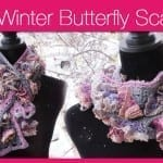 Winter Butterfly Crochet Scarf