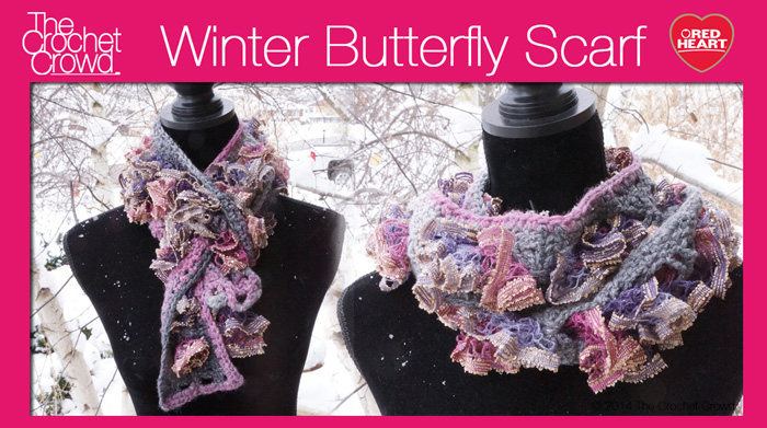 Winter Butterfly Scarf