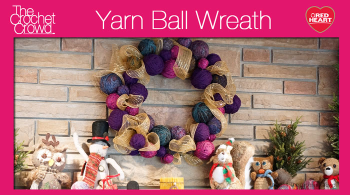 Yarn Ball Wreath Project