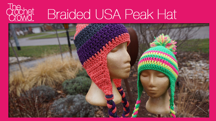 Crochet Braids Video Tutorial : USA Peak Braided Hat + Video Tutorial - The Crochet Crowd