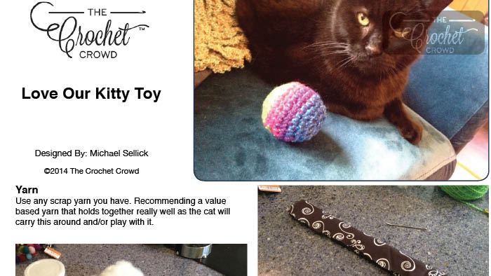 Love Our Kitty Cat Toy Pattern
