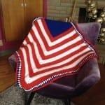 American Flag Baby Crochet Blanket