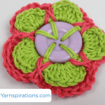 Double Layered Button Flower