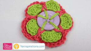 Crochet Button Flower Tuturial