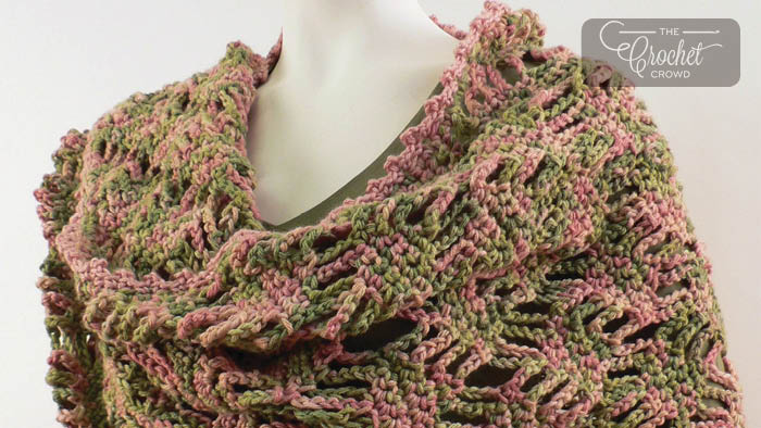 Crochet Lattice Lace Wrap Pattern