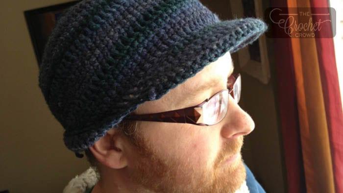 Crochet Men's Brimmed Hat
