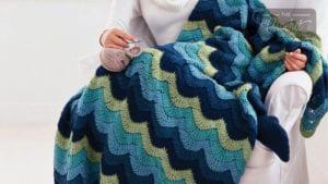 Crochet Ocean Waves Afghan