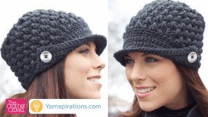 Learn to Crochet this Women's Peaked Hat