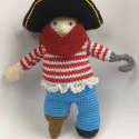 Crochet Peg Leg Pete Pirate Amigurumi Doll Pattern
