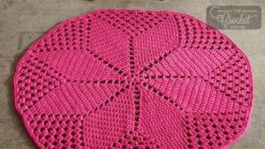 Crochet Diasy Diamond Rug