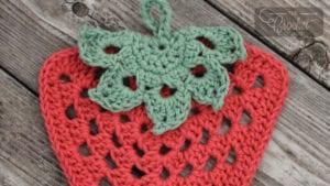 Crochet Strawberry Dishcloth