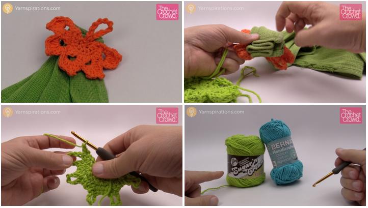 Crochet Leaf Towel Topper The Crochet Crowd