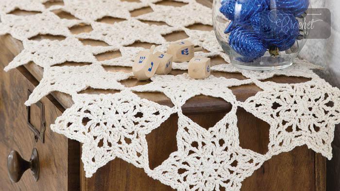 Crochet Star Table Runner