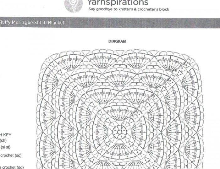 Fluffy Merinque Crochet Diagram