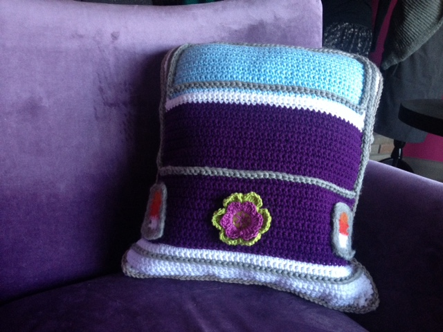 Crochet Van Pillow