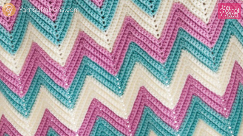 Crochet Chevron Afghan Sizes Tutorial The Crochet Crowd
