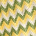 Single Crochet Zig Zag or Chevron Stitch