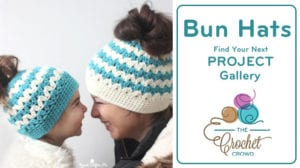 Crochet Messy Bun Hats Gallery