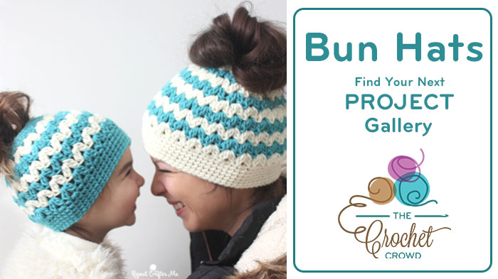 Crochet Messy Bun Hats Gallery