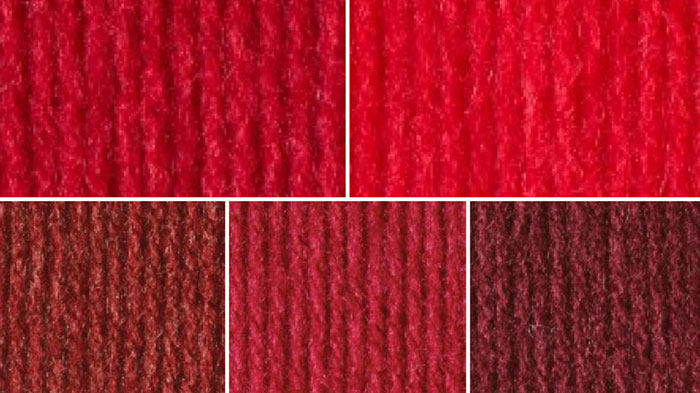 Christmas Red Yarn Color Combinations