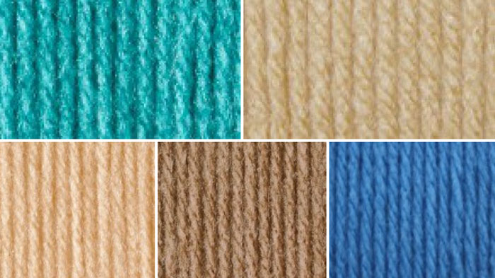 Contemporary Beach House Yarn Colors