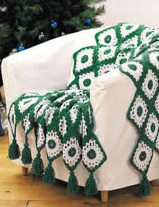 Happy Holidays Crochet Afghan