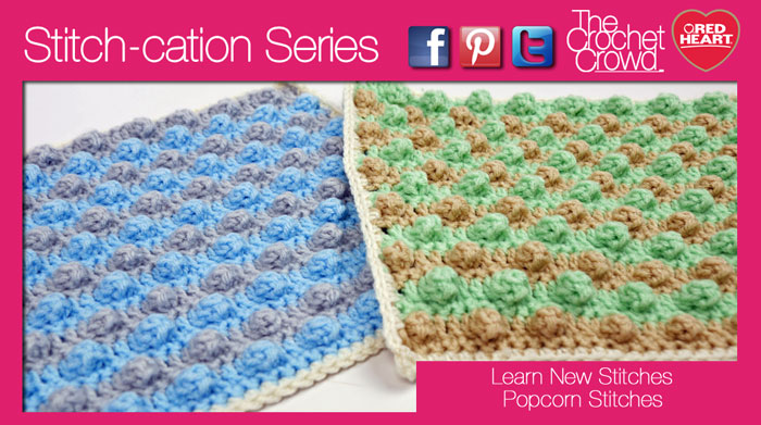 Crochet Popcorn Stitch Squares Tutorial The Crochet Crowd
