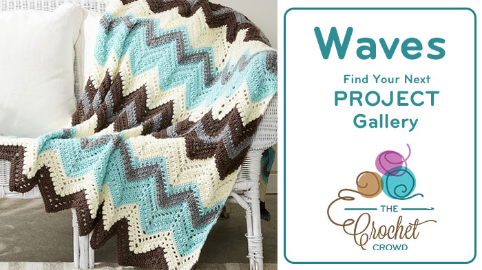 Crochet Waves & Chevron Afghans