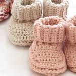 Roll Down Baby Booties + Tutorial