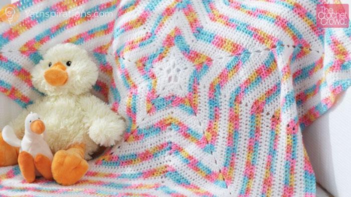 ed705bd98 Crochet Baby Star Blanket + Tutorial