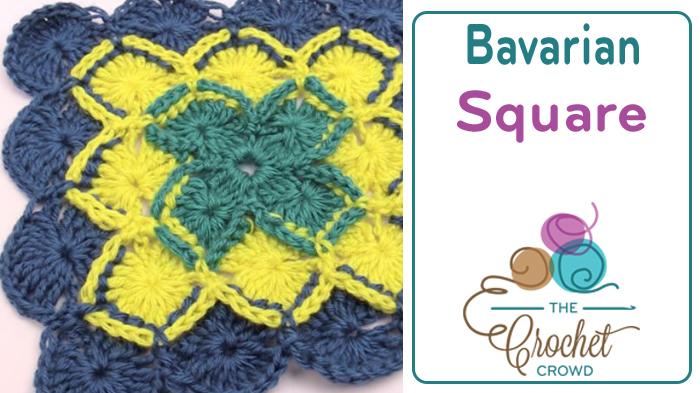 Crochet Bavarian Square Tutorial The Crochet Crowd