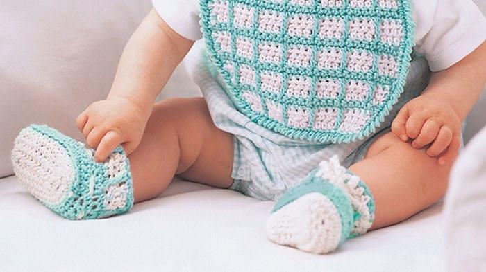 Bib & Booties Crochet Set