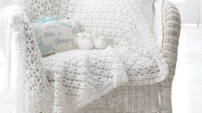 Baby Blanket And Booties Set The Crochet Crowd Simple Lacy Baby Blanket Crochet Pattern