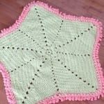 Crochet Baby Blanket Star + Tutorial