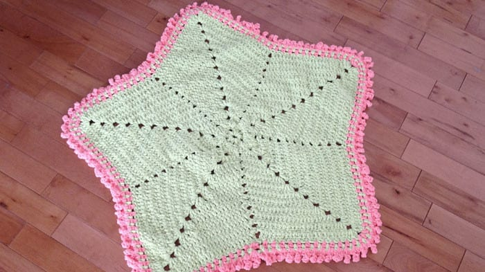 Baby Blanket Crochet Star