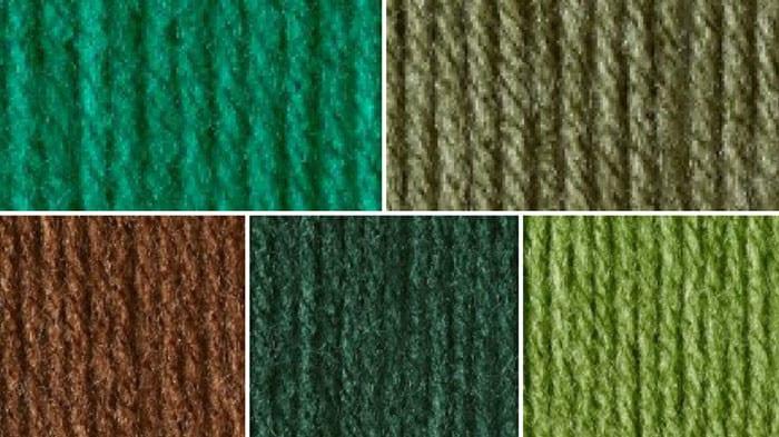 Christmas Green Yarn Color Combination