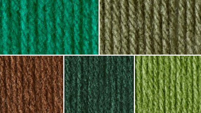 Christmas Green Yarn Color Combination