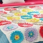 Colorful Cogs Crochet Afghan