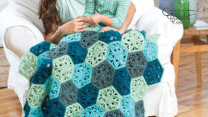 Crochet Flower Throw