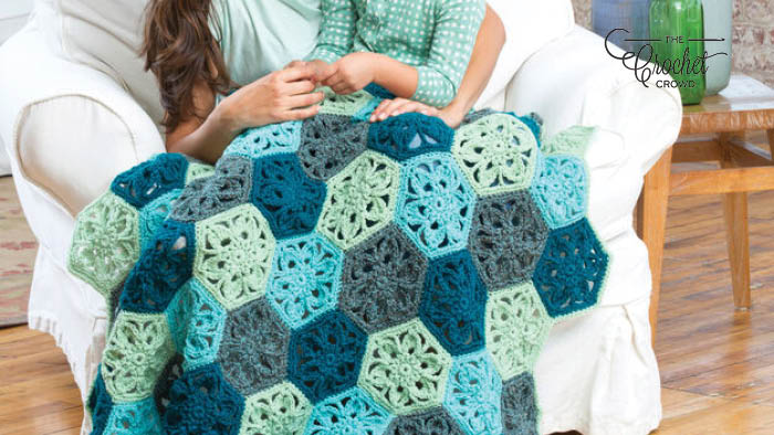Crochet Flower Throw Afghan Pattern