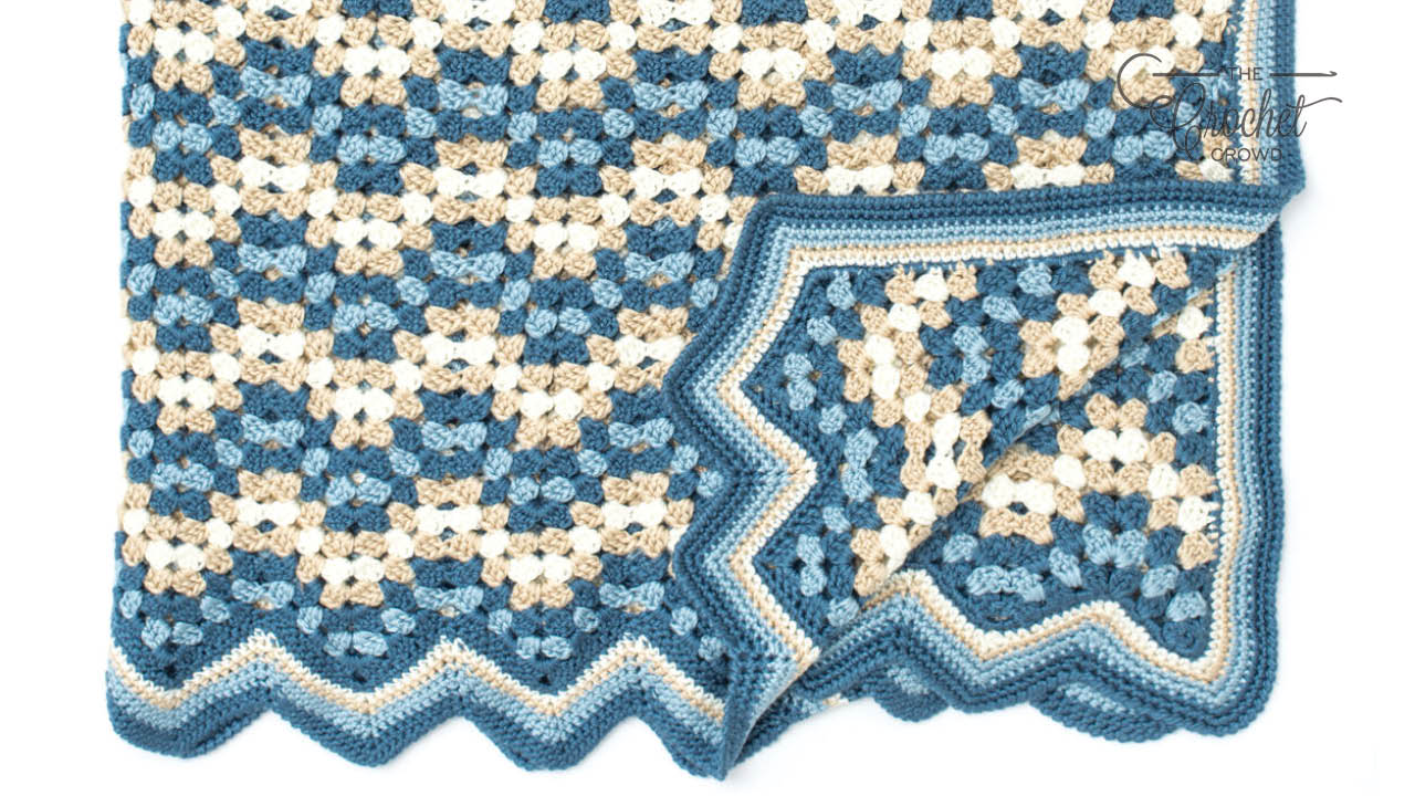 Crochet Granny Goes Ripple Afghan