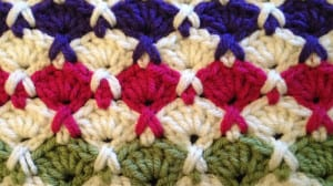Fan Cross Crochet Stitch
