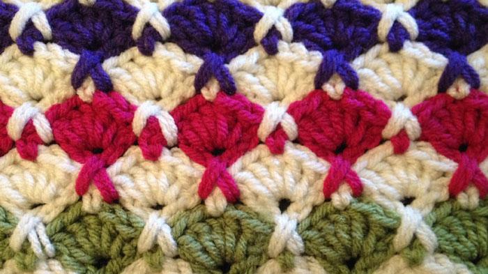 Fan Cross Crochet Stitch