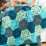 Crochet Flower Throw Afghan + Tutorial