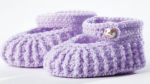 Mary Jane Crochet Baby Booties