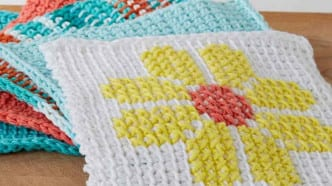 Tunisian Simple Dish Cloth Pattern